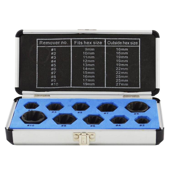 10Pcs Normal Twist Socket set 3/8