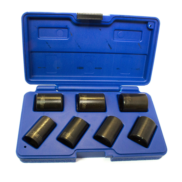7pc Locking Wheel Nut Remover Twist Sockets 1/2